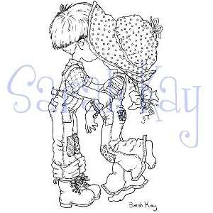 Up for sale is SARAH KAYS FIRST KISS clear stamp from STAMPAVIE.