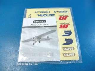 Piper Cub 40 ARF R/C RC Airplane Electric Glow HAN4000 Damage J3
