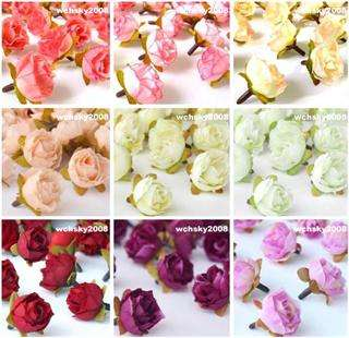 40pcs Multicolor Silk Flower Rose Head Wedding Party Decoration 1