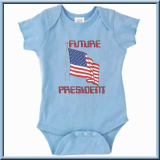 Future President American US USA Flag Onesie 6 18 Month