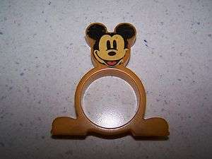 DISNEY MICKEY MOUSE BAKELITE NAPKIN RING / HOLDER   BUTTERSCOTCH COLOR