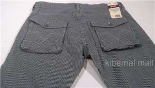 NWT~LEVIs Mens Workwear Railroad Stripe 33 x 32 Jeans Pant Button