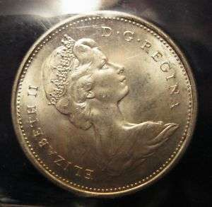 1968 Canada SILVER Quarter 25 cent coin ~ ICCS MS 65!!!