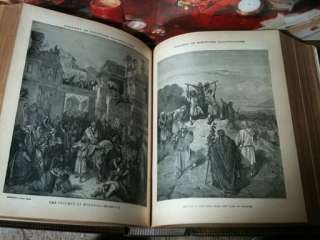 BIBLE UNMARKED LEATHER ORIGINAL GUSTAVE DORE PLATES KING JAMES