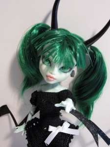 this was a black rock shooter inspired monster high custom