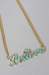 Disney Couture Jewelry The Believe Necklace in Teal  Karmaloop
