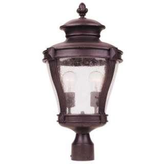 Hampton Bay 2 Light Outdoor Bronze Post Lantern  DISCONTINUED HD254162