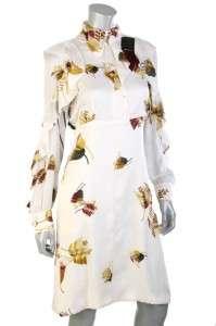 NEW GUCCI RUNWAY FLORAL SILK RUFFLE FABULOUS DRESS 42/8