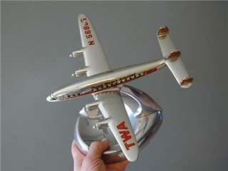chrome ashtray TWA old TRANS WORLD AIRLINES airplane ESTATE