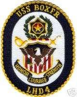 NAVY USS BOXER LHD 4 MILITARY ASSAULT CARRIER WAR PATCH