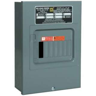 Square D by Schneider Electric QO 100 Amp 6 Space 12 Circuit Indoor