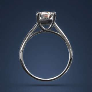 Cut Diamond Engagement Ring 2ct F SI1 Two 18k Gold European Estate