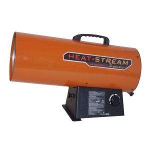 Heat Stream 60,000 BTU Forced Air Propane Heater HS 60V GFA at The
