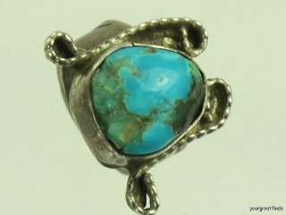 SOUTHWESTERN TRIBAL 925 STERLING SILVER & TURQUOISE RING