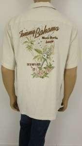 New Tommy Bahama Embroidered Black Marlin Lounge Hawaiian shirt mens