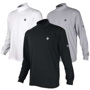 New Men Golf Shirts Pullover Mock Neck Thermal Sports L