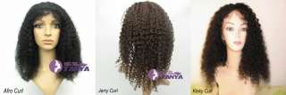 WIG 100% Indian Remy Human Hair lace wigs 12   20 1B/30 all texture