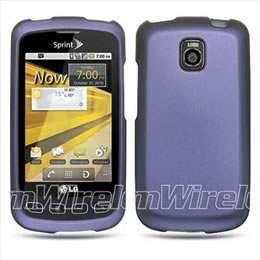 Purple Rubberized Hard Case Cover for LG Optimus T P509