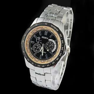 Brand New Fashion Mens Manly Style Deluxe Type Quartz Movement Wrist
