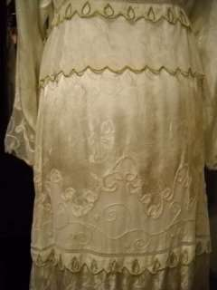 NATAYA Lined Rayon Satin Jacquard Embroidered Dress
