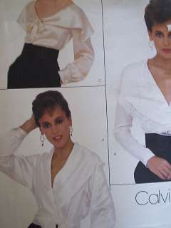 1026 large collar size 8 Blouse floaty Designer sew Pattern