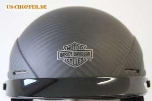 Harley Davidson Chopper Halb Helm Carbon Kevlar Helm XS