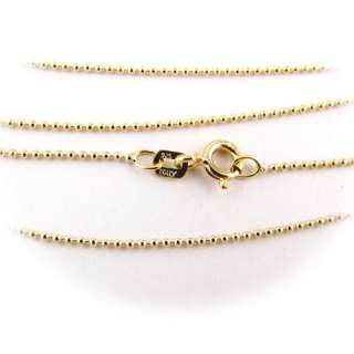 Gold Plated Sterling Silver Bead Round Ball 1mm Chain