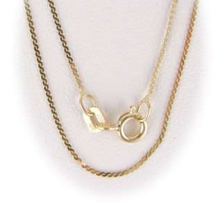 Gold Plated Sterling Silver Serpentine Chain Necklace
