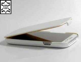 Samsung Galaxy S3 Leder Weiss Handytasche Etui Flip Case Schale