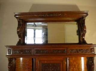 Horner Style Tiger Oak Sideboard, Circa 19th