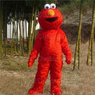 NEW SESAME STREET ELMO MONSTER MASCOT COSTUME ADULT SIZE
