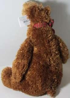 Gund HARLEY BROWN TEDDY BEAR PLAID BOW Stuffed Plush Animal NEW NWT