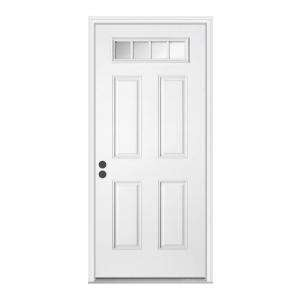 JELD WEN 32 in. x 80 in. White Prehung Right Hand Inswing Premium 4