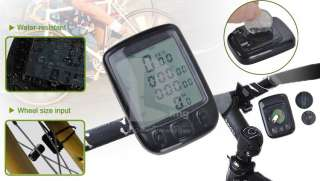 2012 New 1.5 LCD Waterproof Cycling Bicycle Bike Computer Odometer