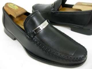 Bruno Magli BENNETT Black Leather Signature Bit Dress Loafer Shoes 7 M