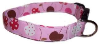 CHERRIES PINK Dog Puppy Pet Diva Boutique Collar Gear