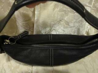 Authentic Coach Small Black Leather SOHO HOBO Purse