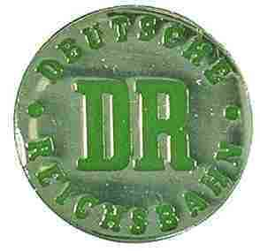 Pin Anstecker Deutsche Reichsbahn DR Logo rund Art 6038