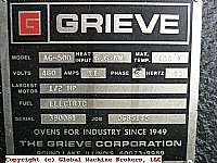 GRIEVE ELECTRIC CONVECTION OVEN 500d. F MAX