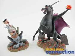 LE 3500 Mr Toad HEADLESS HORSEMAN & ICHABOD CRANE 2 Figure Set
