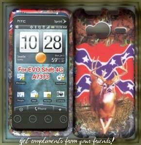 HTC Evo Shift 4G Sprint Hard Cover Case Camo Flag