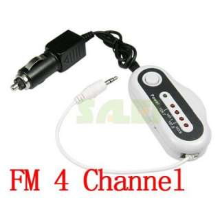 Channel LCD FM Transmitter Car Charger for iPod  MP4 CD Player