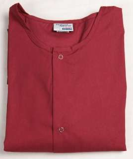 MENs Nursing Scrub Jacket L LARGE Nurse   BURGUNDY