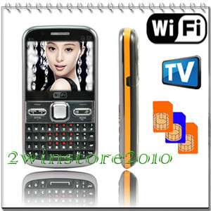 Unlocked quad band Triple 3 Sim Wifi TV mobile Cell phone  GSM AT&T