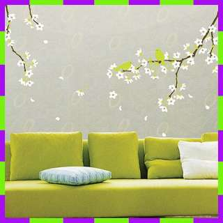 KR 0021 PEAR BLOSSOMS WALL PAPER DECOR DECAL STICKER