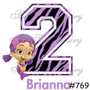 Bubble Guppies Birthday Shirt Personalized Girl Baby toddler 1st 2nd