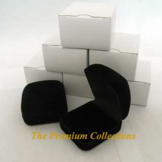 Square Black Velvet Ring Box Jewelry Display Gift Box