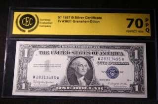 AUTHENTIC 1957 B SILVER CERTIFICATE DOLLAR BILL #495