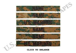 Marine Corps Woodland Name & Service Tape Sets