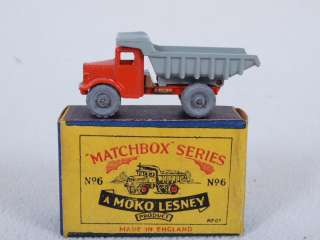 Matchbox Lesney No. 6A Quarry Dump Truck 1954 Release w/ Original Box